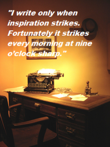 write only when inspired