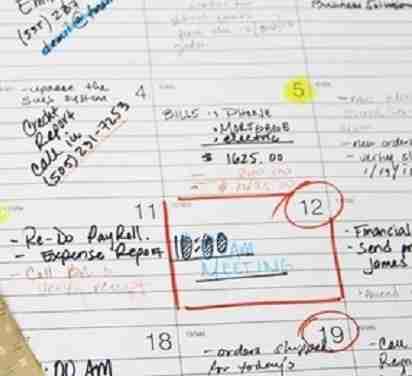 schedule task on calendar