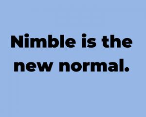 nimble is the new normal